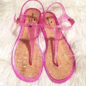 NEW Kate Spade Yari glitter jelly sandals